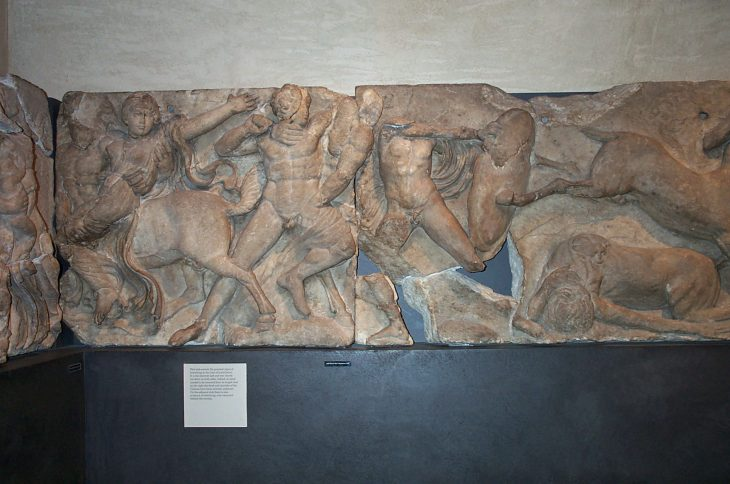 Frieze from the temple of Apollo Epikourios © David Gill